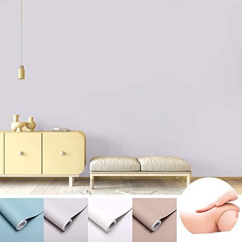 KINLO 0.6x3M Textur ist glatter als die Haut des Babys Möbelfolie selbstklebende Wandaufkleber Folie grau PVC Küchenschränke Küchenfolie Klebefolie Tapeten Küche Schrank Dekofolie Schrankaufkleber