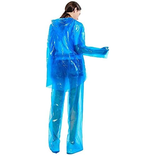 Poncho, waterdichte regenponcho's, Unisex Adult Rain Suit Coat En Broek Set, perfect for op reis, kamperen, Festivals, pretparken en Outdoors dsnmm