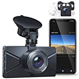 Dash Cam Front and Rear, WiFi Dash Cam for Cars Crosstour 1080P Car Camera with 3 Inch IPS Screen,170° Wide Angle, Loop Recording, Parking Guard, G-Sensor