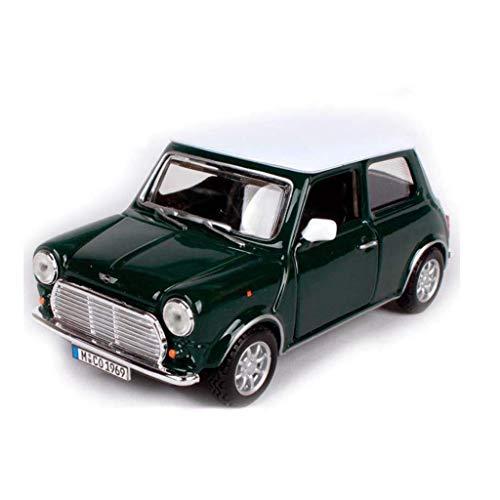 hclshops Car Model 1969 Mini clásico Fresco Retro Modelo de simulación 1,24 Die Casting Regalos de aleación Modelo de Niños (Color, Rojo), Red (Color : Green, Size : One Size)