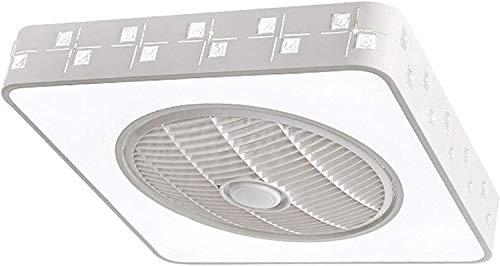 DULG Ventilador de Techo de Ventilador LED Creativo Moderno con iluminación 96W Lámpara de Ventilador Ventilador silencioso 3 Velocidad Lámpara de Techo de Ventilador de Dormitorio con Control Remoto