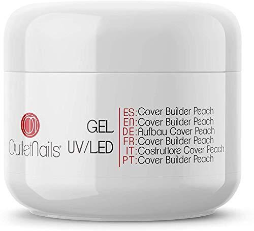 UV Gel Cover Builder Peach 15ml UV/LED | Ideal para centros de uñas | Outlet Nails