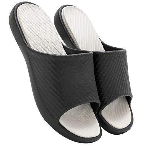 [KOCOTA] 北欧 バイカラー スリッパ サンダル 健康衛生 歩きやすい 滑り止め コンフォート 男女兼用 ブラック LL
