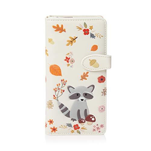 SHAGWEAR ® Portemonnaie Geldbörse Damen Geldbeutel Mädchen Bifold Mehrfarbig Portmonee Designs: (Waschbär/Raccoon)