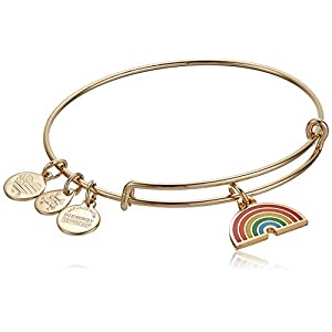 Alex and Ani Color Infusion Rainbow EWB, SG, Shiny Gold, One Size (A20EBVDAY25SG)