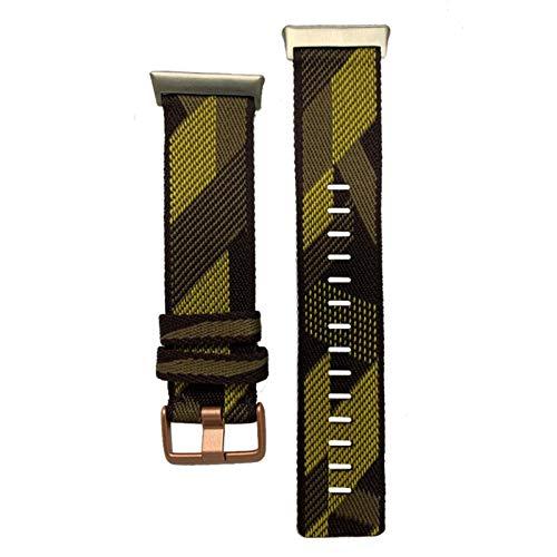 KADIWOAD Pulsera de la Correa de la muñeca de 2020 Nylon para el Reloj OPPO 46mm Banda DE Reloj Suave CURANTE TRILLAS DE CULTIVAS TRANSPURTADAS para OPPO (Color : Yellow)