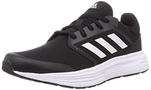 adidas Galaxy 5, Running Shoe Hombre, Core Black/Footwear White/Footwear White, 44 EU