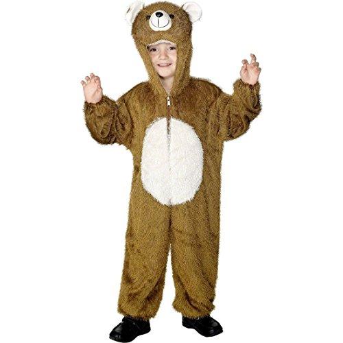 NET TOYS Kinder Bären Kostüm Kinderkostüm braun 5-8 Jahre 128 - 140 cm Bärkostüm Ganzkörperkostüm Tierkostüm Bär Bärenkostüm Fasching