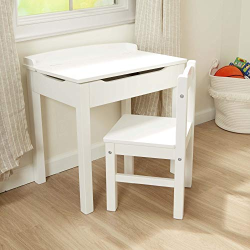 Melissa & Doug Wooden Lift-Top Desk & Chair - White