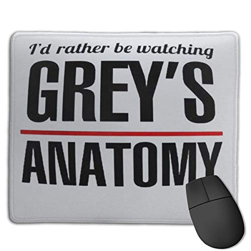 Gaming Mouse Pad, Non-Slip Rubber Mouse Pad for Iiexclmacrd Rather Be Watching Greys Anatomy Easter Thanksgiving Mothers Day