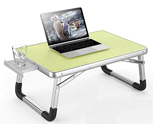 Kurtzy Foldable Laptop Study Table Bed Sofa Stand Home Desk with In-built Cup Holder