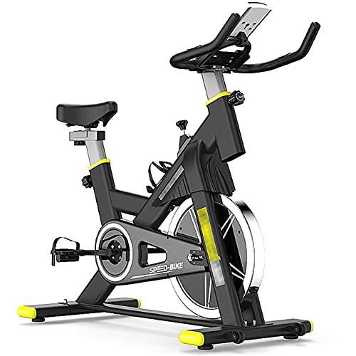 QQ HAO Bicicleta De Ciclismo En Bicicleta De Ejercicios con Cómodo Monitor LCD De Cojín De Asiento,Negro