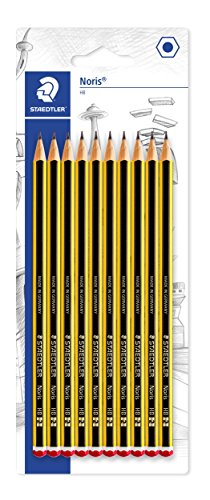 Staedtler Noris 120-2BK10D. Lápices de madera certificada. Caja de 10 unidades.