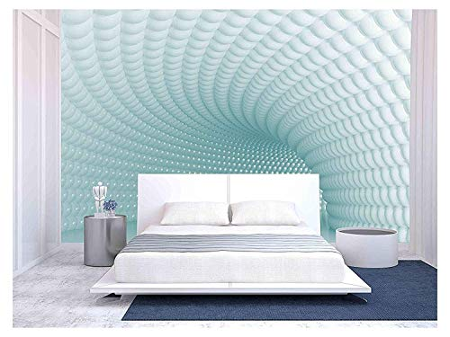 wall26 - Modern Tunnel - Removable Wall Mural   Self-Adhesive Large Wallpaper - 100x144 inches