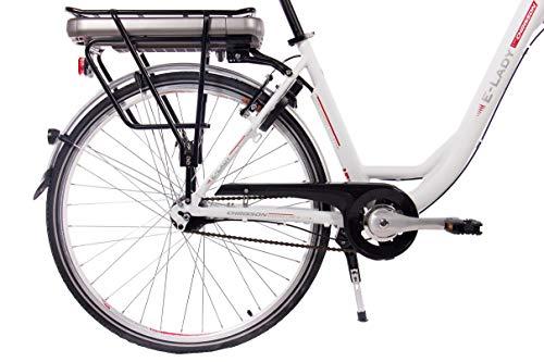 CHRISSON 28 Zoll E-Bike Trekking und City Bike für Damen – E-Lady Weiss mit 7 Gang Shimano Nexus Nabenschaltung – Pedelec Damen mit Bafang Vorderradmotor 250W, 36V Bild 3*