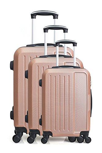 Hero Vesuvio kofferset, 76 cm, 189 liter, roze (roze)