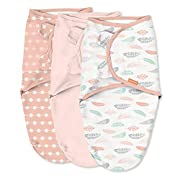 SwaddleMe Original Swaddle – Size Small, 0-3 Months, 3-Pack (Coral Days)