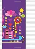 quaderno pentagrammato grande - maxi quadernone a4 per la musica, 100 pagine, 12 pentagrammi per pagina