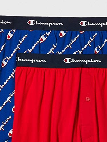 Boxer Shorts Pack of 2 Champion LIFE Mens Knit Boxers