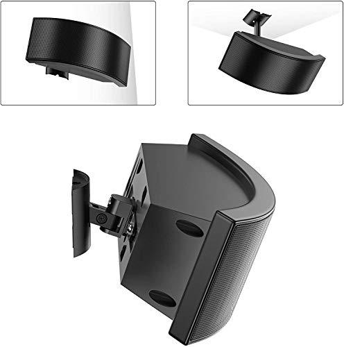 Soporte de pared 2 en 1 para Bose 161 / para Bose 100 / para Bose 151 SE, 180° ajustable inclinable & soporte de pared para altavoz giratorio con tornillos e instrucciones de instalación - negro