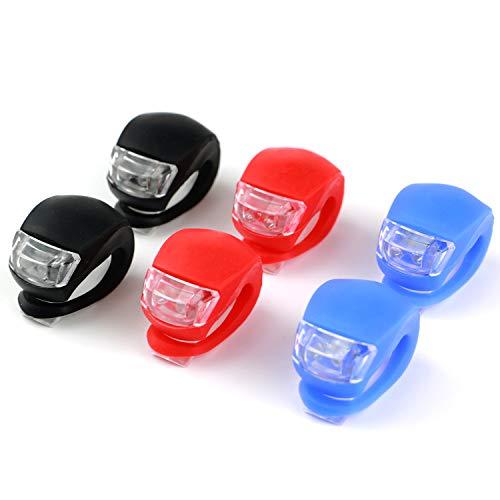 6PCS LED Lichter, Silikon LED Warnleuchten, Front- und Rücklichter, Wasserdichte helle LED-Leuchten, Wird für Außen Lauf Kinderwagen Camping und andere Sicherheitsbeleuchtungen Nicht wiederaufladbar