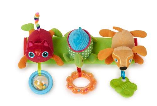 Oops Barre de siège de voiture avec grand jouet rotatif pour chat et tortue et chien - version anglaise