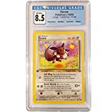 CGC 8.5 Pokemon Eevee 51/64 Non Holo 1st Edition Jungle + Extra Protection Near Mint (Toploader) 1999