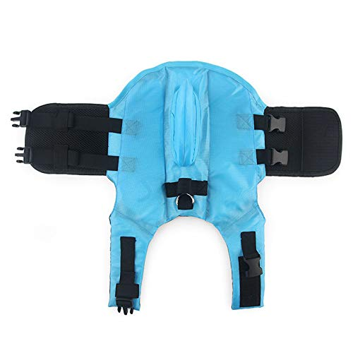 PTJman Pet Life Jacket with Shark Fin, Swimming Float Saver with Superior Buoyancy and Rescue Handle (Size:XS)