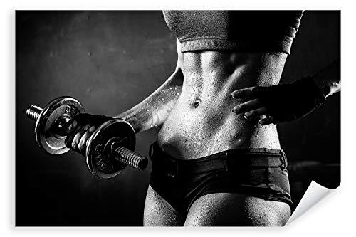 Postereck 3014 - Poster & Leinwand, Frau Fitness Sport Training Bodybuilding Größe Poster - 3:2-91.0cm x 61.0cm
