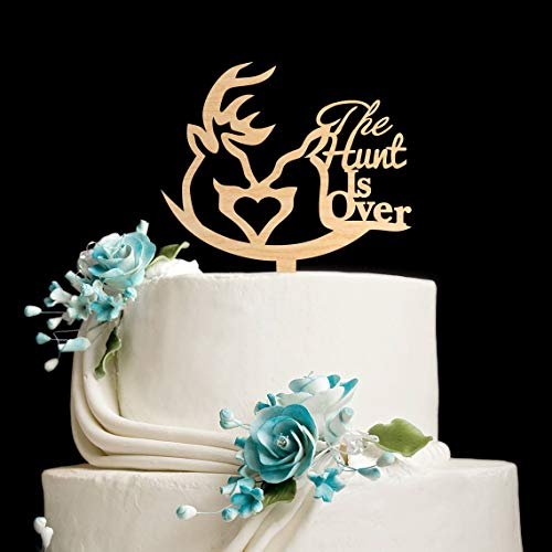 Cake Topper - Cake topper for wedding cake, hunting and wedding, motif: Hunt is Over Hunt is Over Cake Topper, Funny Present, Funny Present