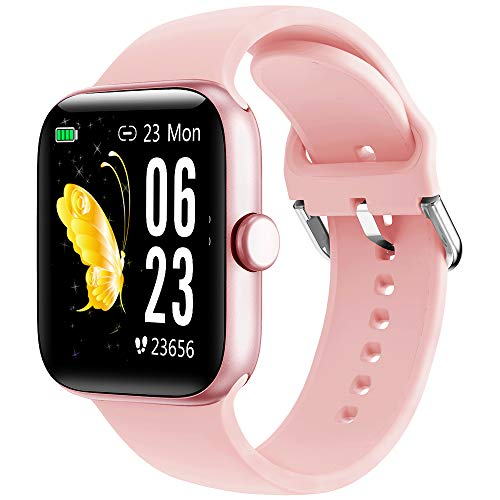 Smartwatch, KUNGIX Fitness Tracker 1.54'' Voll Touchscreen Fitness Armband mit Blutdruck Pulsuhr, Schrittzähler Uhr, Sportuhr für Damen Herren, Wasserdicht IP68 Smart Watch Bluetooth Aktivitätstracker