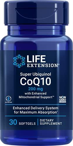 Life Extension, Super Ubiquinol CoQ10, 200 mg, 30 Softgels, senza soia, senza glutine