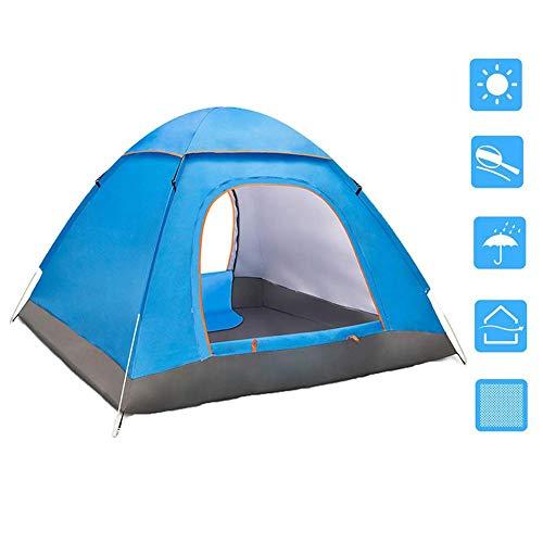 Camping Zelt Automatische Pop Up Zelt für 3-4 Personen wasserdichte Kuppelzelt Anti UV Familienzelt Ultraleicht Zelt für Strand Wandern Camping Outdoor