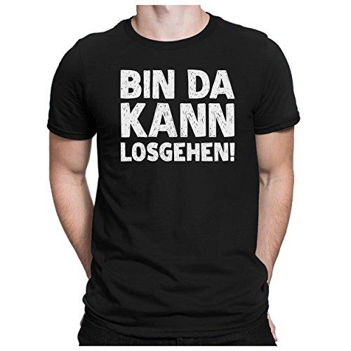 PAPAYANA - BIN-DA-KANN-LOSGEHEN - Herren Fun T-Shirt - Bedruckt - XL Schwarz