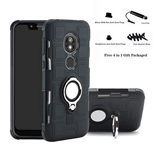 Labanema Moto G7 Power Hülle, Ring Kickstand 360 Grad rotierenden Fingerring Grip Drop Schutz Stoßdämpfung Weichen TPU Cover für Motorola Moto G7 Power(Not fit Moto G7 /G7 Plus /G7 Play) - Schwarz