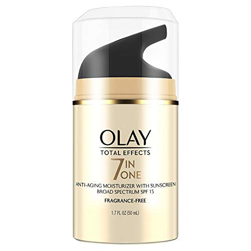41DTn0 1nKL - OLAY Total Effects 7-in-1 Anti-Aging Face Moisturizer with SPF 15, Fragrance-Free 1.7 oz