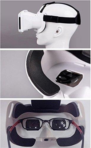 『KAWOE 3DVRゴーグル 3DVRメガネ 仮想現実体験 超3D映像効果 焦点/瞳孔距離調節可能 映画ゲーム用 ホワイト』の7枚目の画像