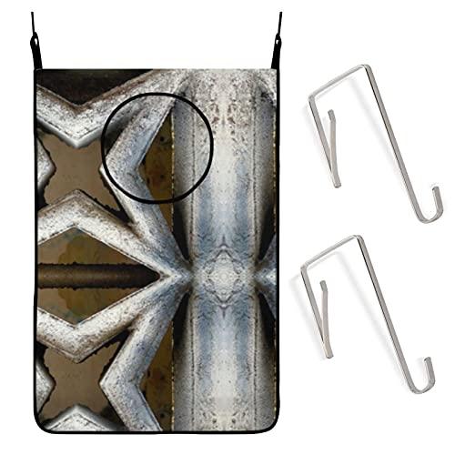 Bolsa de lavandería original de cemento Starburst sucio bolsa de ropa para la colada ahorro de espacio cesta de tela para puerta con ganchos