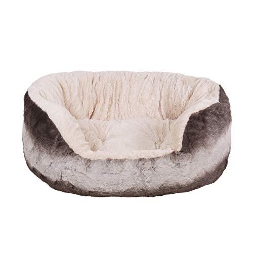 Rosewood 40guiños Snuggle Mascota Cama, Gris/Crema P