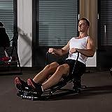 Relaxdays Rudergerät klappbar, Ruderbank für Ganzkörpertraining, Zuhause, Fitness, LCD-Display, Polstergriffe, schwarz - 5