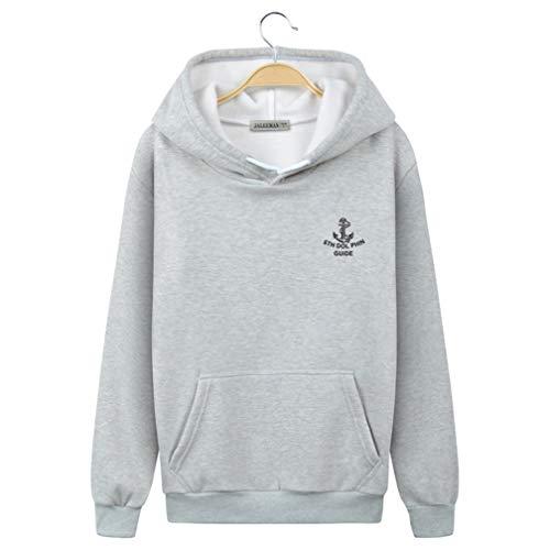 Ning Night Unisex Hooded Sweater voor heren, pluche coltrui, trui, student, katoen, sportjack, herfst, herenhoodie,03,XL