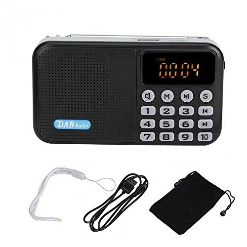 Mini Radio USB DC 5V Rechargeable high-Power Speaker Music Player Supports car, Portable DAB Digital Radio, Suitable for Home and Outdoor use