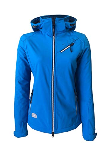 Dry Fashion Damen Softshelljacke Laboe Übergangsjacke, Farbe:blau, Größe:40