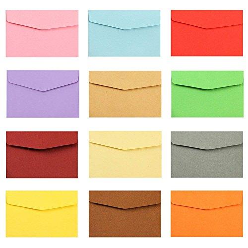 MINGZE 50 st minikuvert, 17 x 12,5 cm kuvert, små färgade kuvert för presentkort bröllop, födelsedagsfesttillbehör.