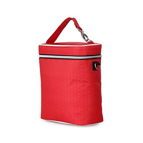 Bolsa de Almacenamiento a Prueba de Agua Multifuncional, Bolsa de Botella de Cochecito de bebé, Bolsa de Almacenamiento de Leche Materna Grande, Bolsa de biberones (Color : Red)