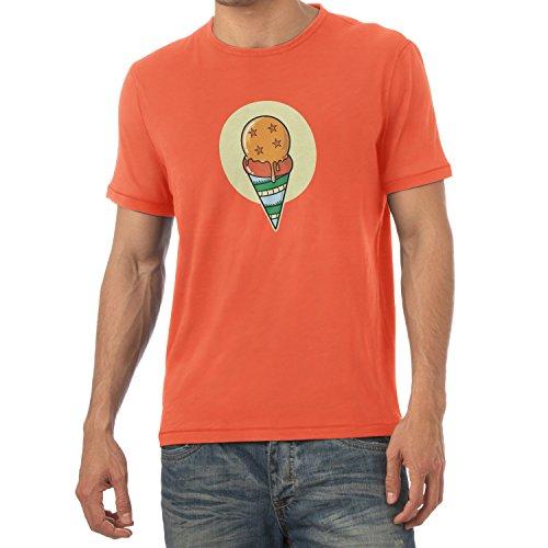 NERDO heren Dragon Ice Cream T-shirt, oranje, L