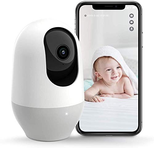 Nooie Baby Monitor, WiFi Pet Camera Indoor, 360-degree Wireless IP Camera, 1080P Home Security Camera, Motion Tracking, Super IR Night Vision, Works...