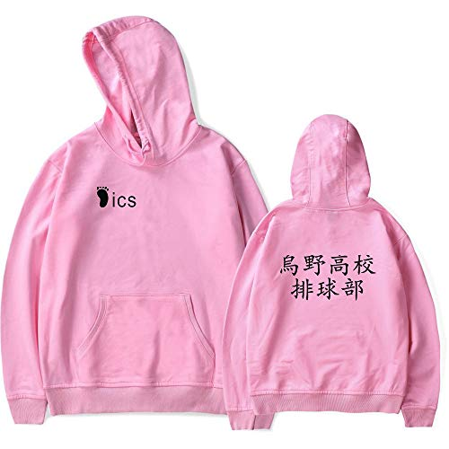 Haikyu !! Les As du Volley Hoodie Shirt, Karasuno Lycée Volleyball Uniforme Pull Cosplay Veste Manteau Anime Sweat Sportswear Manteau Cosplay Costume pour Femmes Hommes