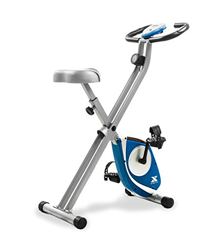 XTERRA Fitness FB150 Folding Exercise Bike, Silver, 31.5L x 18W x 45.3H in.