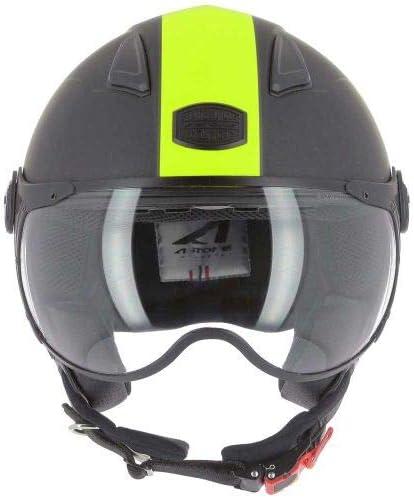 Astone Helmets - Casque jet KSR 2 graphic - Casque de moto léger - Casque de moto compact - Casque de scooter - matt black yellow M